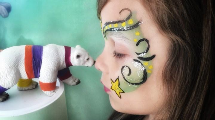 Kinderschminken für etwas geübtere Hände: Kringel, Punkte und Sterne