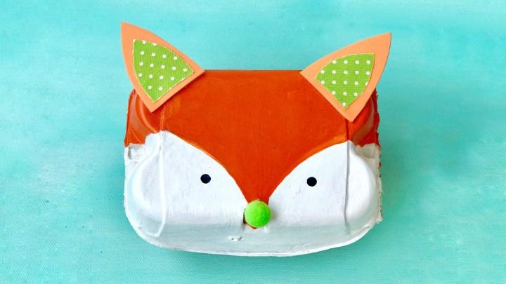 Die Fuchslein-Box ist eine tolle Upcyclingidee für Eierkartons und ist ein Highlight für jeden Waldtiere-Geburtstag