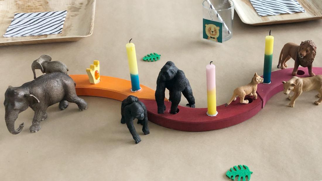 Die Geburtstags-Kerzen-Spirale von Grimm schmückt jedes Jahr unseren Geburtstagstisch