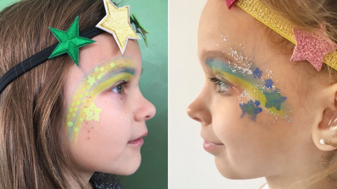 Sterne sind ein beliebtes Motiv beim Kinderschminken