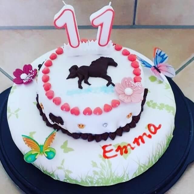 Pferdeparty Geburtstagstorte