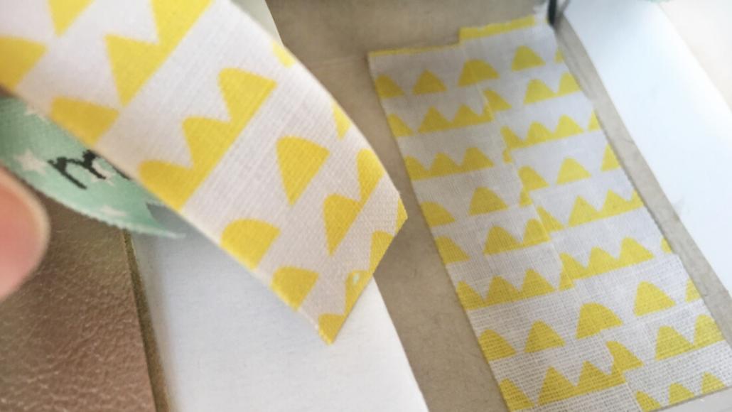 Washi-Tape pimp den Boden der Streichholzschachtel