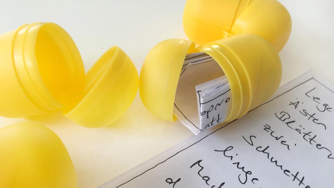 Ü-Eier enthalten die Aufgabenzettel