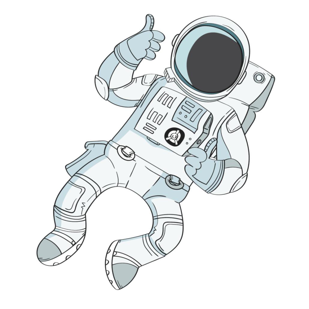 Chefmarstronaut Apollo trifft auf seiner Reise das ein oder andere Weltraum-Monster