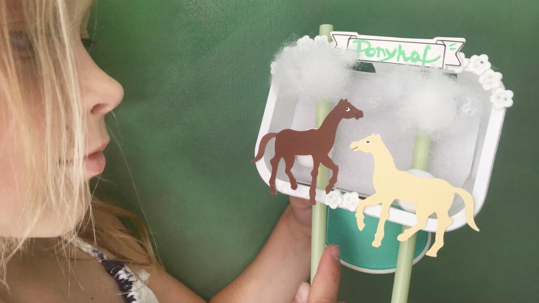 Mini-Theater mit zwei Pferdchen
